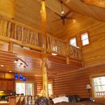 Pine and cedar paneling was milled on site. All wood came from the property
