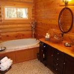 cedar vanity top was created on site.