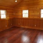 Cherry wainscot with Oak base